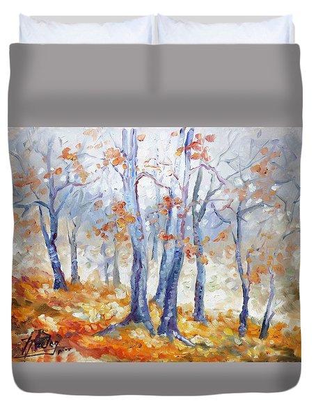 Autumn Mist - Morning Duvet Cover