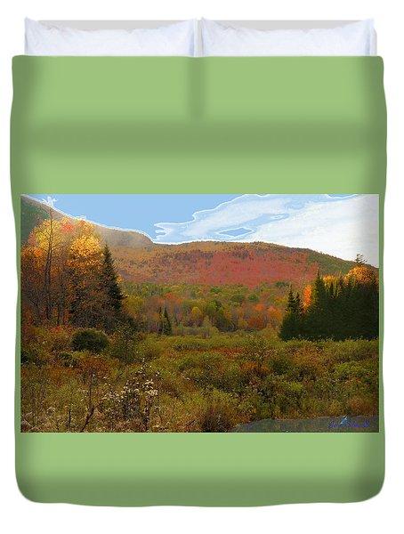 Autumn  Moose Bog Duvet Cover