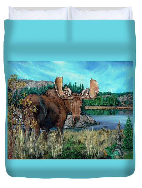 Autumn Moose Duvet Cover