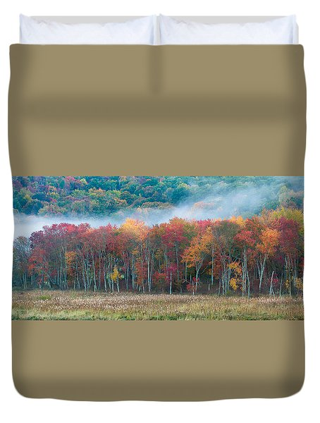 Autumn Morning Mist Duvet Cover by Brian Caldwell