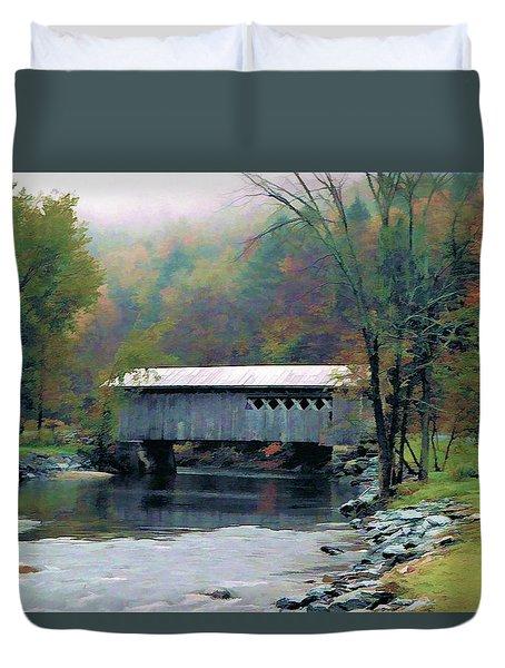 Autumn Morning Mist Duvet Cover by Dan Dooley
