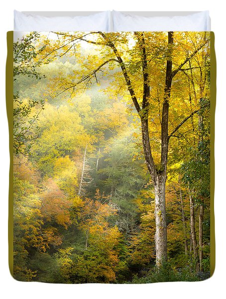 Autumn Morning Rays Duvet Cover