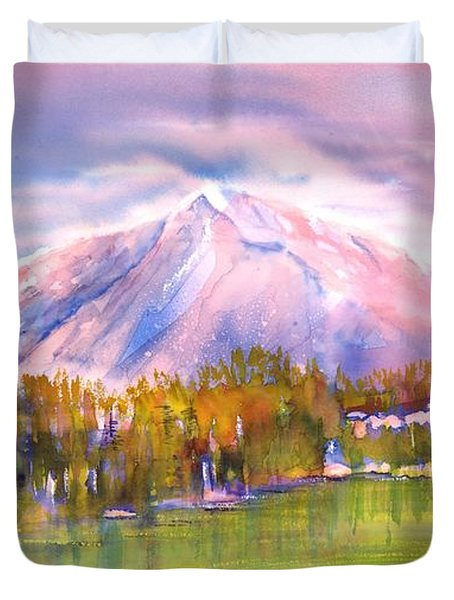 Autumn Mountain Scenery Duvet Cover