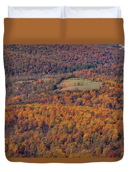 Autumn Mountain Side Duvet Cover