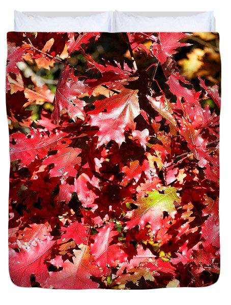 Autumn Oak Leaves Duvet Cover