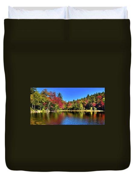 Autumn On 7th Lake Duvet Cover