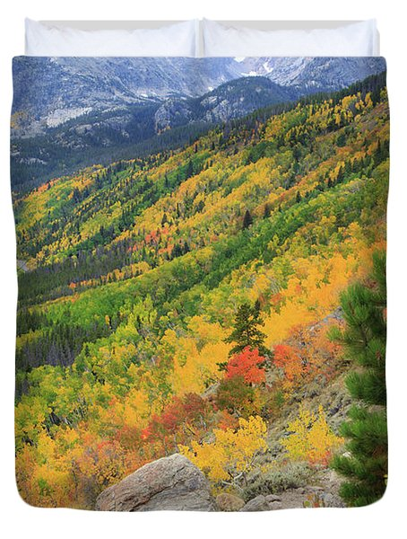 Autumn On Bierstadt Trail Duvet Cover