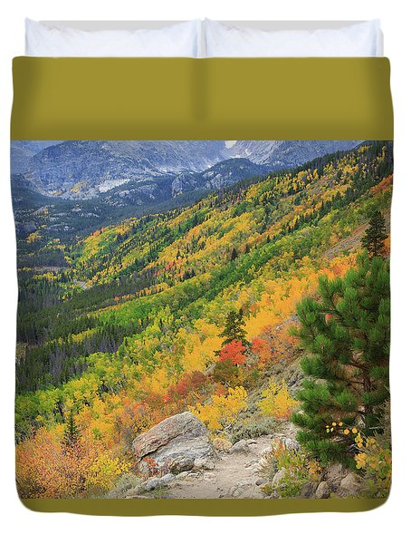 Duvet Cover featuring the photograph Autumn On Bierstadt Trail by David Chandler