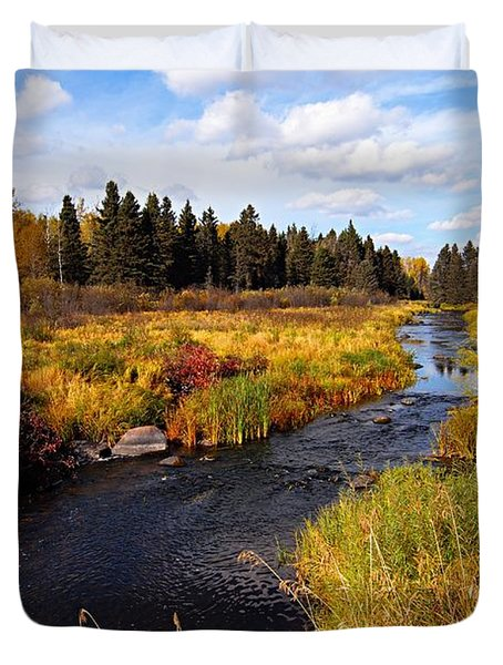 Autumn On Jackfish Creek Duvet Cover