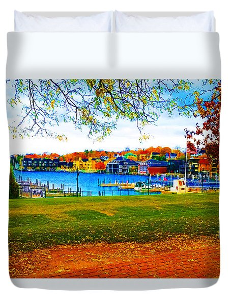 Autumn On Lake Charlevoix Duvet Cover