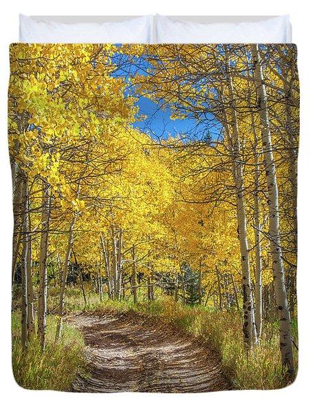 Autumn On Medano Pass Duvet Cover