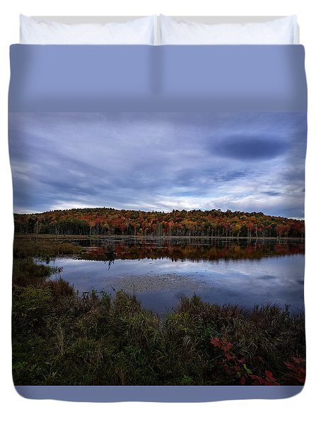 Autumn On North Pond Road Duvet Cover by Tom Singleton