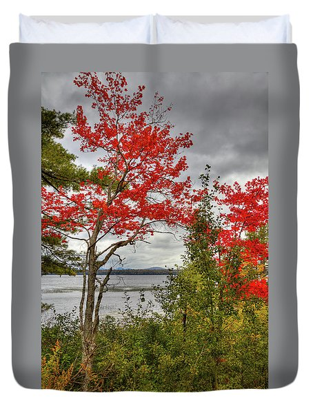 Duvet Cover featuring the photograph Autumn On Raquette Lake by David Patterson