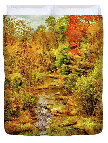 Autumn On The Ammonoosuc Duvet Cover