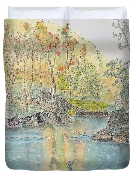 Autumn On The Ausable River Duvet Cover