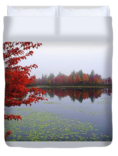 Duvet Cover featuring the photograph Autumn On The Bellamy by Wayne Marshall Chase