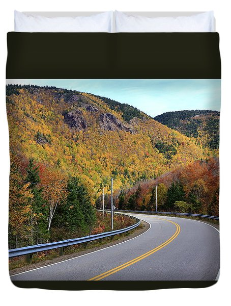 Autumn On The Cabot Trail, Cape Breton, Canada Duvet Cover