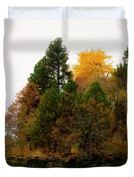 Duvet Cover featuring the photograph Autumn On The Columbia by Albert Seger