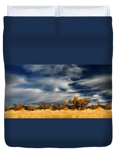 Autumn On The Edge Of The Great Plains  Duvet Cover by David Dehner