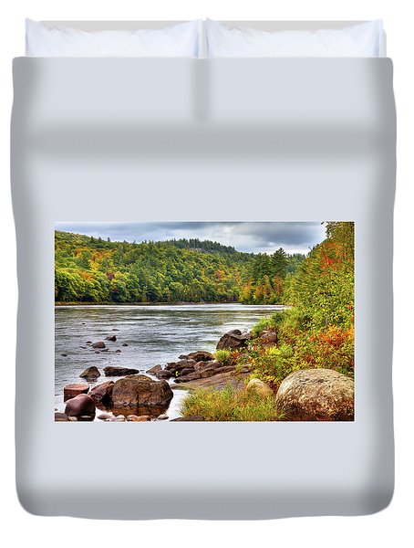 Duvet Cover featuring the photograph Autumn On The Hudson River by David Patterson