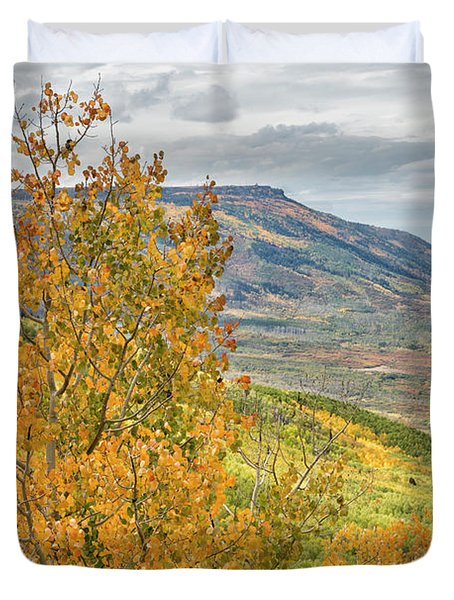 Autumn On The Mesa Duvet Cover
