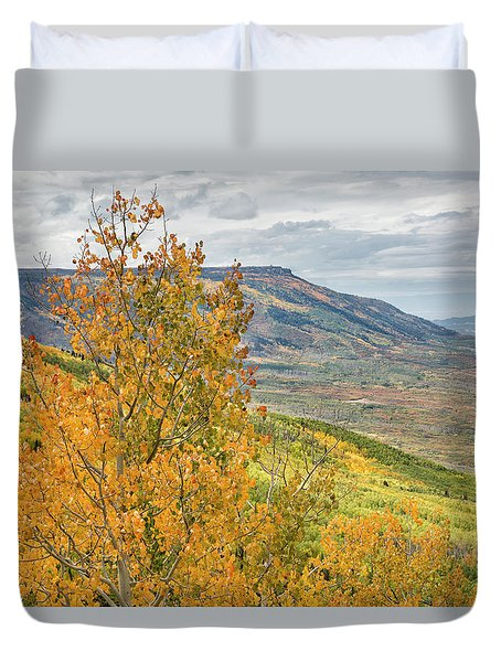 Autumn On The Mesa Duvet Cover