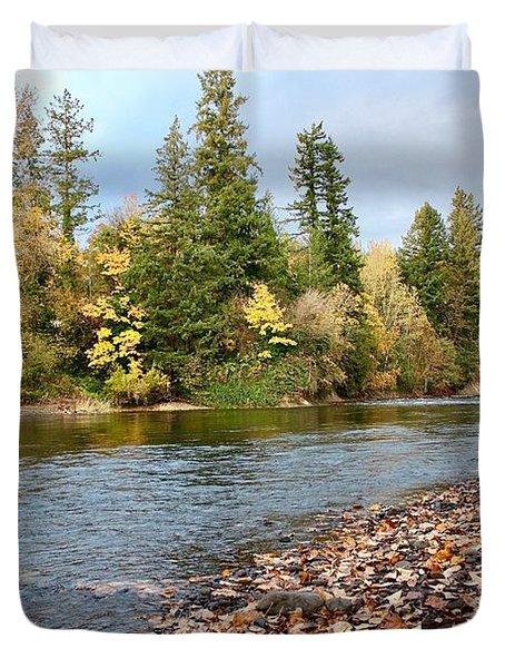 Autumn On The Molalla Duvet Cover