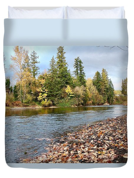 Autumn On The Molalla Duvet Cover