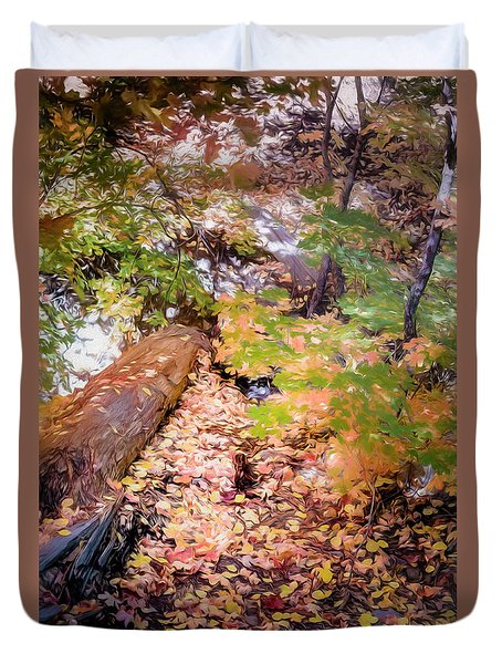 Autumn On The Mountain Duvet Cover