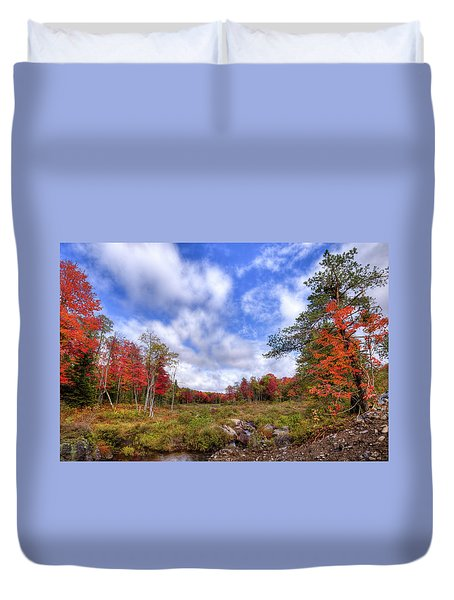 Duvet Cover featuring the photograph Autumn On The Stream by David Patterson