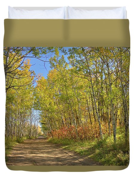 Autumn On The Trail Duvet Cover