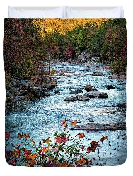 Autumn On Wilson Creek Duvet Cover