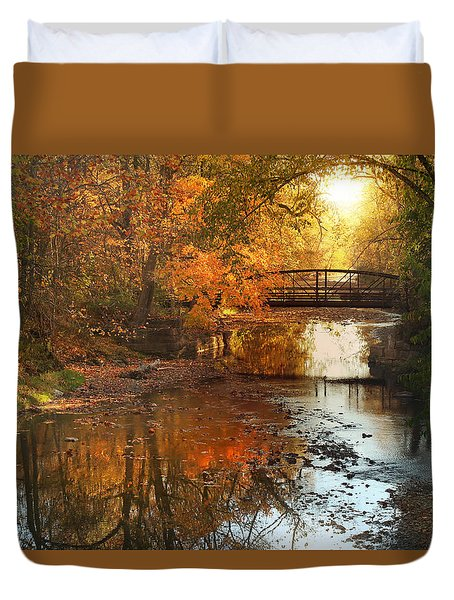 Autumn Over Furnace Run Duvet Cover