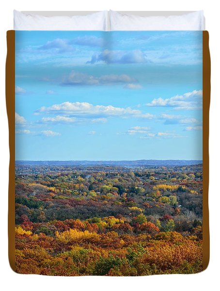 Autumn Overlook Duvet Cover by Nikki McInnes