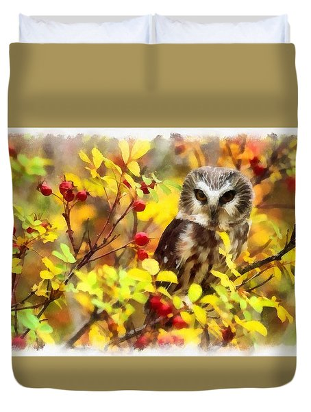 Autumn Owl Duvet Cover