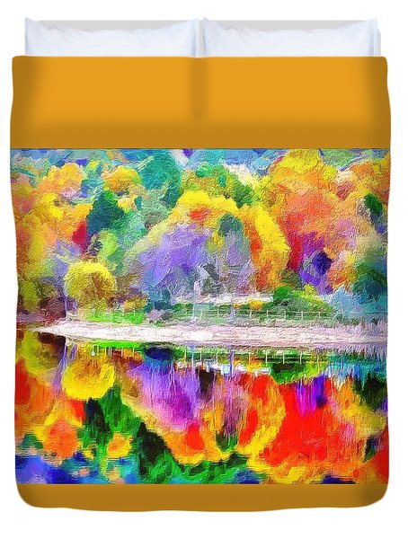 Autumn Panorama Duvet Cover