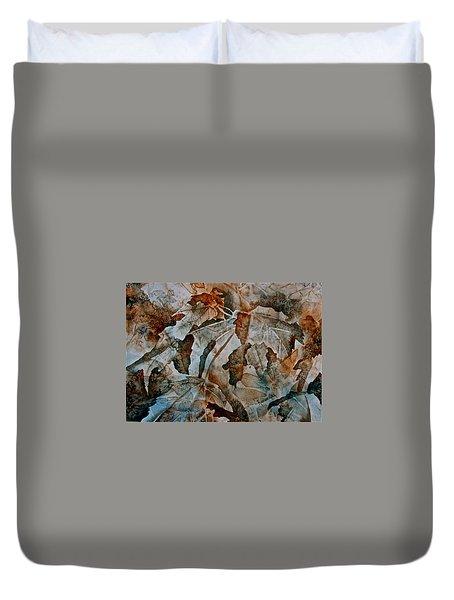 Autumn Patterns Duvet Cover by Carolyn Rosenberger