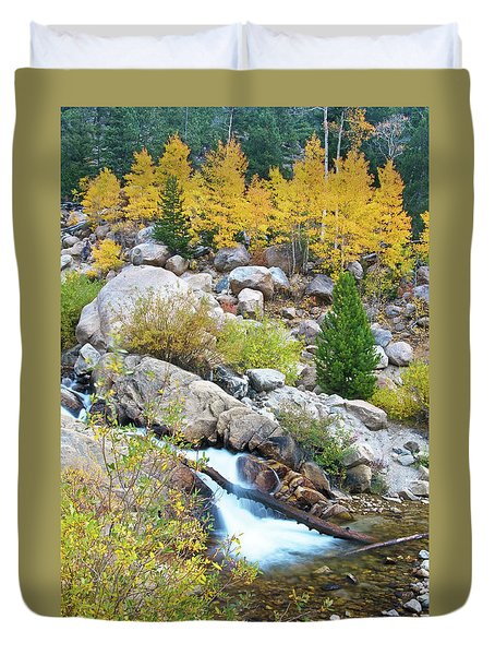 Duvet Cover featuring the photograph Autumn Peace by Gary Lengyel