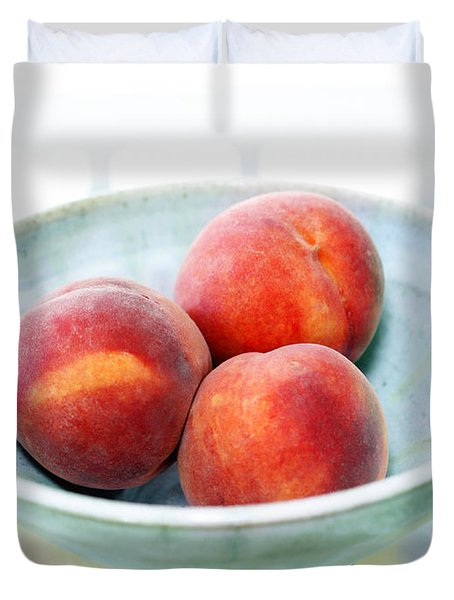 Autumn Peaches Duvet Cover by Marilyn Hunt