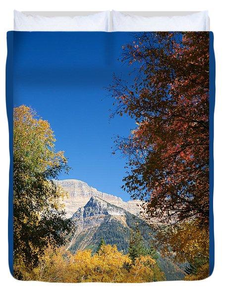 Autumn Peaks Duvet Cover