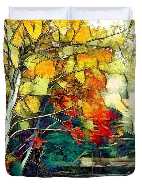 Duvet Cover featuring the digital art Autumn by Pennie McCracken