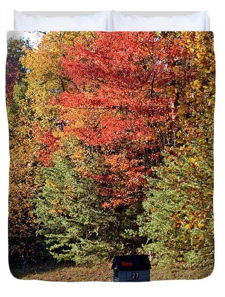 Autumn Post Duvet Cover