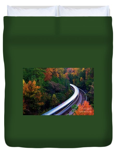 Autumn Rails Duvet Cover