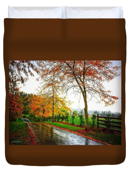 Autumn Rains Duvet Cover