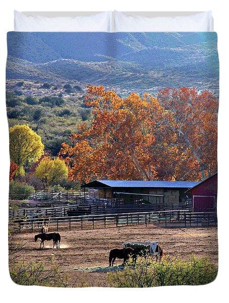 Autumn Ranch Duvet Cover
