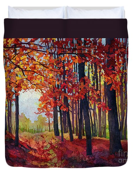 Duvet Cover featuring the painting Autumn Rapture by Hailey E Herrera