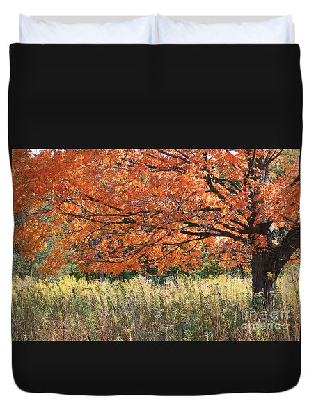 Autumn Red   Duvet Cover