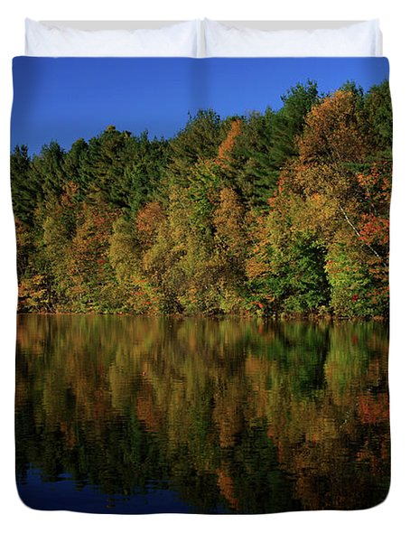 Autumn Reflection Of Colors Duvet Cover by Karol Livote