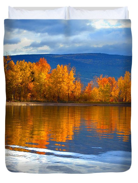 Autumn Reflections At Sunoka Duvet Cover