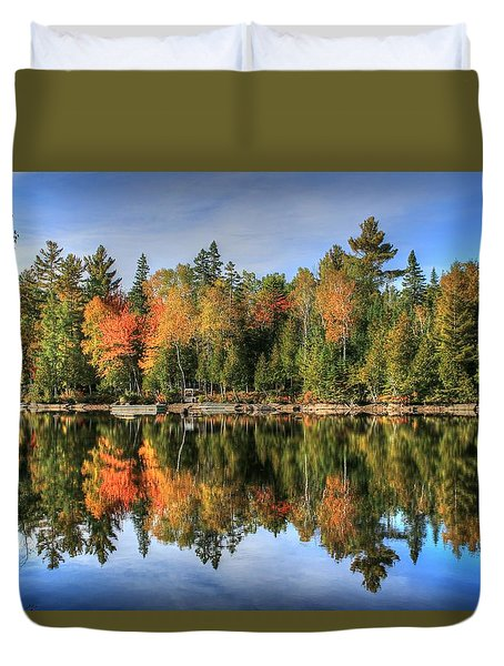 Autumn Reflections Of Maine Duvet Cover